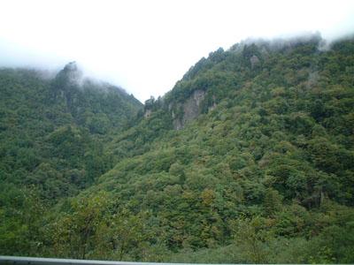 奥飛騨温泉郷、新穂高付近の紅葉